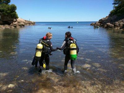 Diving Baptism in Cala Pixavaques L'Ametlla de Mar