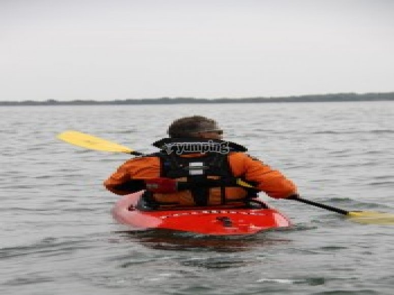 Setting off across open water