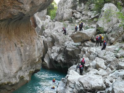Canyoning in Guadalentín Ravine, Level III