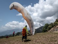 Mountaineering and paragliding!