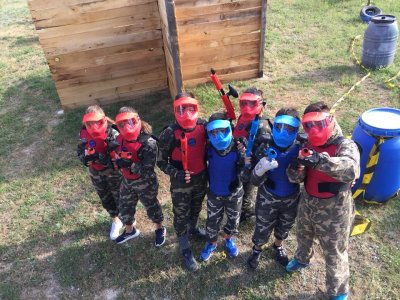 Kid's Paintball in Béjar, 100 Balls