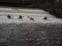 White water kayaking.