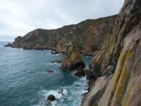 Climbing on Guernsey's sea cliffs