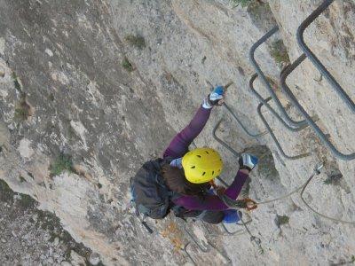 Via Ferrata Sierra de Lúgar medium difficulty 4h