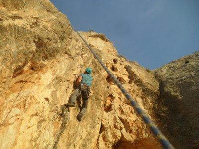 Classical climbing route Puig Campana Grade V