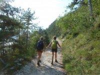 Walking above Lake Garda
