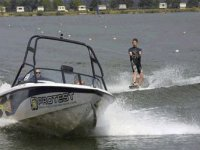 You will be pulled along by our very own speed boat