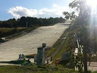 The dry slope!