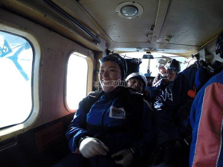 On the aeroplane