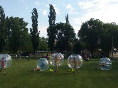 1-Hour Bubble Soccer Match in Huerta