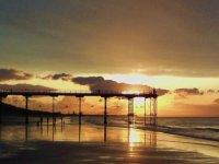 The beach as dusk
