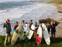 Junior surfers