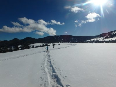 4h circular snowshoes trip in Rasos de Peguera