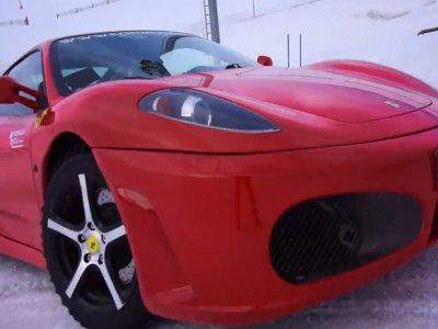 Driving a Ferrari in the Snow Grandvalira Circuit