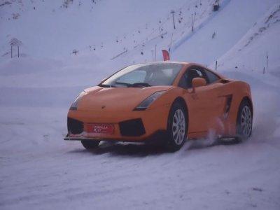 Lamborghini ride in a Snow Circuit Pas de la Casa