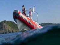 Speeding over the water