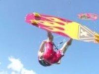 Kitesurfing through the air