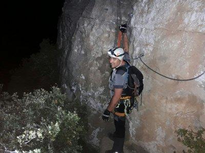 Via Ferrata and Night Rappelling in Penedès 3 h