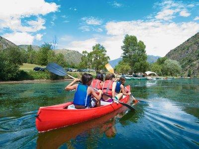 Canoe Ride in Torrassa School Trips