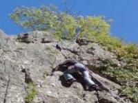 Steep crag faces