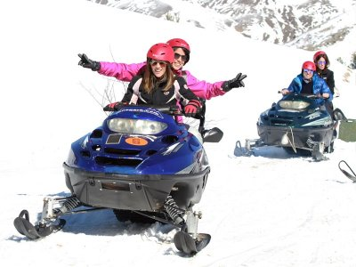 1h Two-Seater Snow Bike Route in Partacua