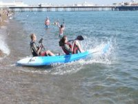 Kayaking is fun.
