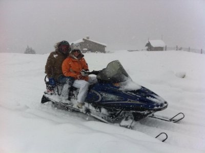 2h Two-Seater Snowmobile Route in Formigal