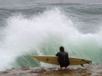 Dramatic surfing waves