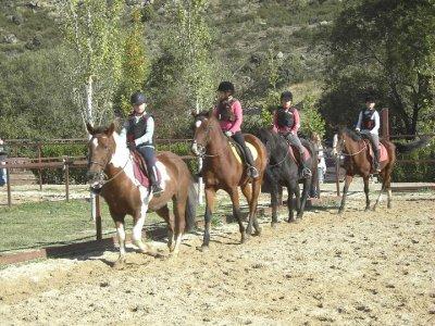 Horseback ride camp Christmas, 3 days La Pedriza