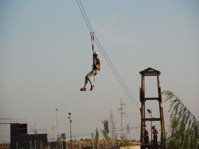 Zip-lines in La Rinconada