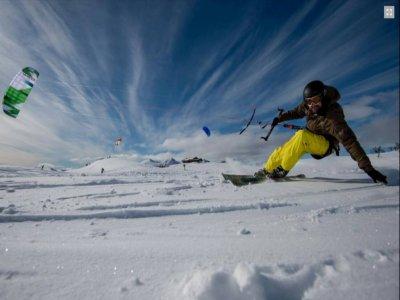 Kite ski course, material, transfer top Puymorens
