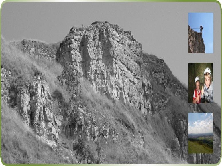 Rock climbing collage