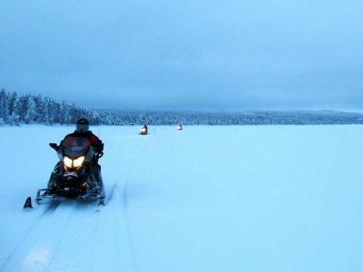 Two-seater Snow Bike tour in Grau Roig 30 min