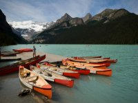 Canoes ready to be paddled
