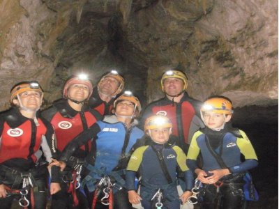 Spelunking for children in Añisclo valley