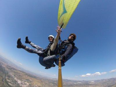 Paraglider initiation & flight Sierra Nevada