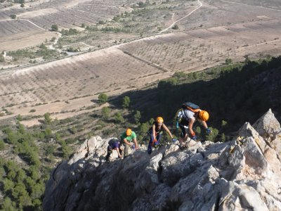 Via ferrata Sierra de Lúgar in Murcia level K2