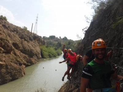 Via Ferrata in Almadenes ravine in Cieza