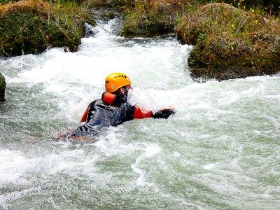 Body rafitng in Almadenes canyon Murcia