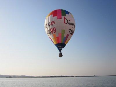 Hot-air balloon ride children river Cinca 1 hour