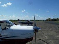 The airport of Phoenix Flying School