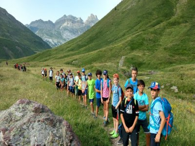 Multiadventure camp children in Ordesa July