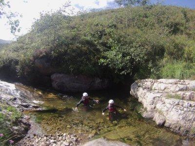 2 hour canyoning for children in river Sebrando