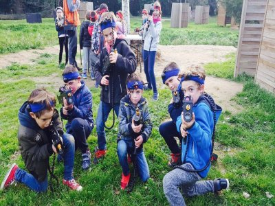 Outdoor laser combat for children in Montgrí