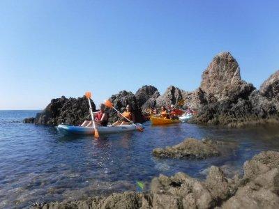 Kayak trip children in Arrecife de las Sirenas