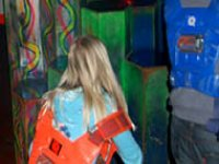 Youth groups laser tag.