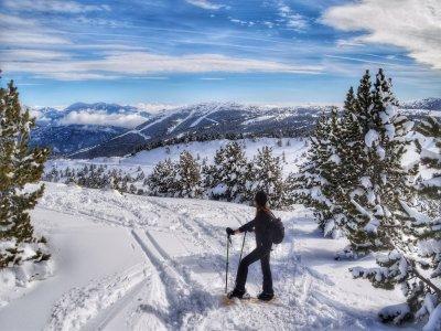 Snowshoes route in Ruta la Llúdriga