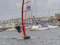 A successful windsurfer