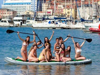 1h Rental BIG SUP board in Gijón