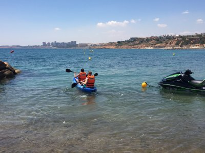 1h two-seater kayak rental Cabo Roig Orihuela